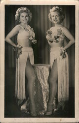 Two women in show costumes Postcard