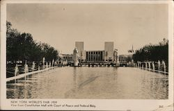Constitution Mall with Court of Peace and Federal Building, World's Fair 1939 Postcard