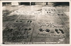 Footprints and Autographs of the Stars, Chinese Theatre Postcard