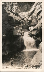 Fishing the Roaring River Falls Postcard