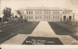Main building, Grass Valley High School, California Postcard