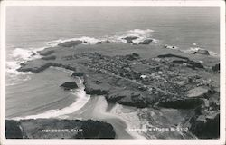 Aerial View of Mendocino Postcard