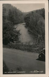 On Navarro Highway view of river bend Postcard