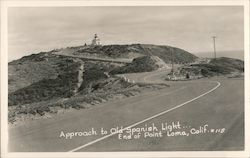 Approach to Old Spanish Light, End of Point Loma Postcard