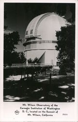 Mt. Wilson Observatory of the Carnegie Institution of Washington, D.C. Postcard