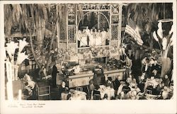 Clifton's Pacific Seas Cafeteria, singers Postcard