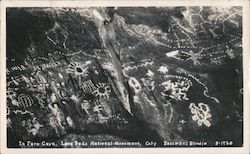 Pictographs in Fern Cave Postcard