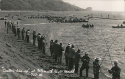 Casters Line Up, Klamath River Mouth Postcard