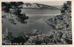 Scenic View of Clearlake Postcard