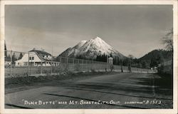 Black Butte near Mt. Shasta City Postcard