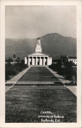 Chapel, University of Redlands Postcard