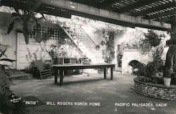 """Patio"", Will Rogers Ranch Home"