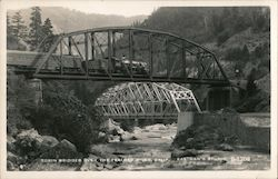 Tobin Bridges over the Feather River Postcard