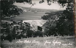 Don Pedro Dam from Highway Postcard