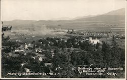 Birdseye View of Susanville and Lumber Mills Postcard