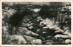 The Truckee River in Winter Postcard