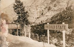 The California-Nevada State Line Postcard