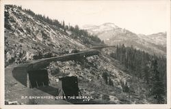 Southern Pacific Snowsheds over the Sierras Postcard