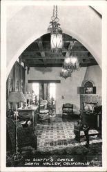 In Scotty's Castle, Death Valley, California Postcard