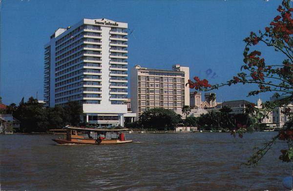 Oriental Hotel, boat on water Bangkok Thailand Southeast Asia