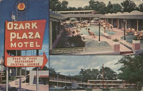 Ozark Plaza Motor Hotel, pool St. Louis Missouri