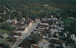 Aerial view of Granville NY business section