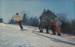 One of Many Popular Ski Areas in New Hampshire Postcard