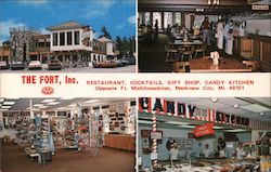 The Fort, Inc. Restaurant, Cocktails, Gift Shop and Candy Kitchen Postcard