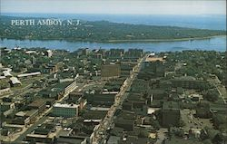 Bird's Eye View of Perth Amboy, Middlesex County Postcard