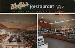 Wolfie's Restaurant and Fountain Postcard