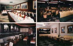 The Famous Grill. Lansing's Wonder Restaurant, various dining rooms Postcard