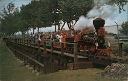 """The Little Toot"" Steam Engine Postcard"