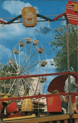 Forest Park Highlands, Ferris Wheel, Tilt-a-whirl Postcard
