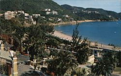 View of Repulse Bay Beach fro Hotel Verandah Postcard