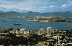 Panorama of Kowloon with Victoria City Postcard