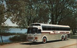 The Silver Eagle luxury bus Postcard