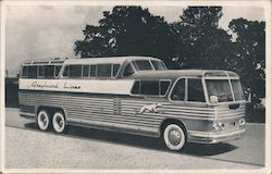 Greyhound Scenicruiser, two level bus. Postcard