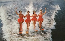 Aqua-Maids perform spectacular watersking feats at Cypress Gardens Postcard