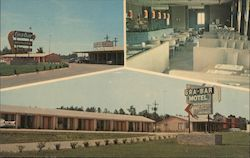 Gra-Bar Motel, dining room Postcard