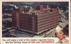 Home of L&M and Chesterfield cigarette Factory Postcard