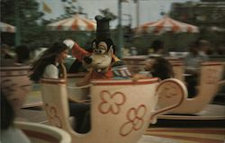 Goofy Goes for a Spin - teacup ride at Walt Disney World Postcard