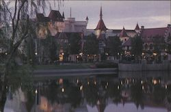 Epcot. Germany, World Showcase and lagoon Postcard