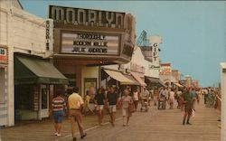 Famous Boardwalk, Moorlyn Theater Postcard