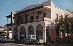 Jamestown Hotel with Antique Coffee Shop Postcard