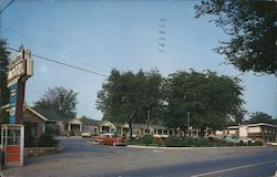 Greystone Motel, red phone booth Postcard