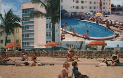 Blue Waters Hotel, pool and beach Postcard