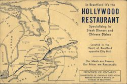 In Brantford it's the Hollywood Restaurant - advertising map
