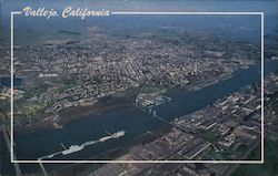 Aerial View of Vallejo Postcard