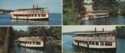 Schedule Sightseeing Cruises Aboard The Songo River Queen Large Format Postcard