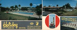 Holiday House Motel Large Format Postcard